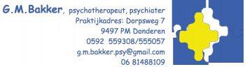 G.M. Bakker Praktijk voor psychotherapie en psychiatrie Donderen