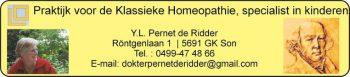Praktijk voor Klassieke Homeopathie, Pernet De Ridder