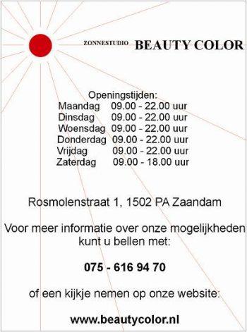Zonnestudio beauty color