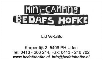 Mini camping bedafs hofke