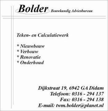 Bolder bouwkundig adviesbureau