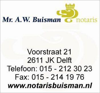 Mr. a.w. buisman notaris