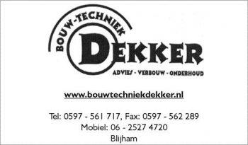 Bouw techniek Dekker