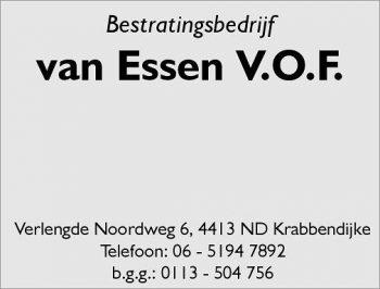 Bestratingsbedrijf van essen v.o.f.