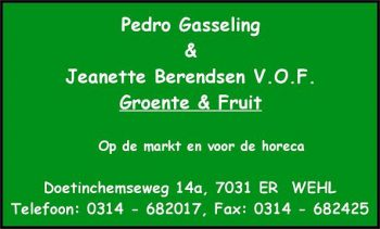 Pedro gasseling en jeanette berendsen vof groente en fruit