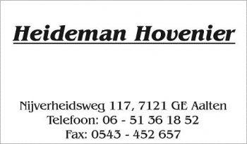 Heideman hovenier