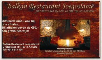 Balkan restaurant Joegoslavie