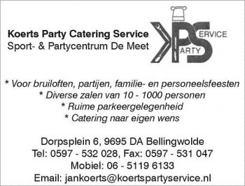 Koerts catering party service