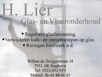 H. lier glas- en vloeronderhoud