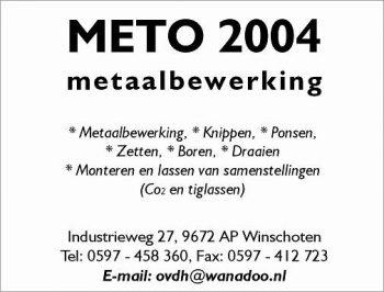 Meto 2004 metaalbewerking