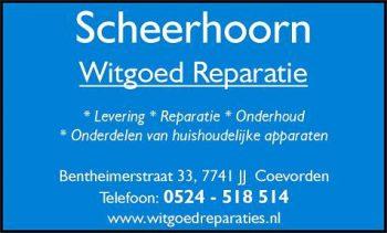 Scheerhoorn witgoed reparatie