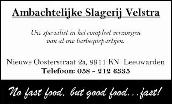 Ambachtelijke slagerij Velstra