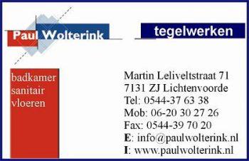 Paul wolterink tegelwerken