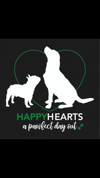 Logo Hondenuitlaatservice Happy Hearts