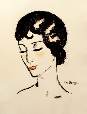 Kees Van Dongen -Jeune Femme les Yeux Baisses